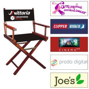 Director Chairs Printed with Your Full-colour Logo
