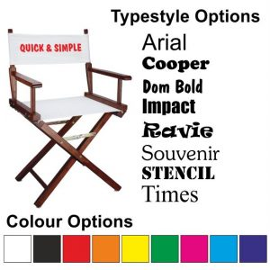 Quick & Simple Director Chair Personalisation