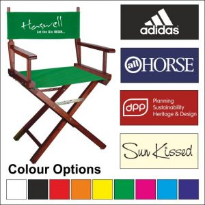 Director Chairs Customised with a single-colour Logo